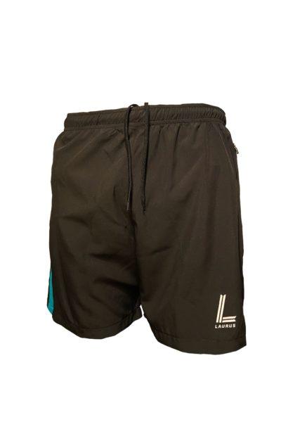 Kempes Leisure Shorts – Black/Teal