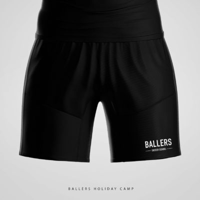 Ballers Copa Skinny Fleece Shorts – Black